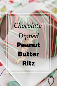 Pinnable image 5 for chocolate dipped peanut butter ritz.