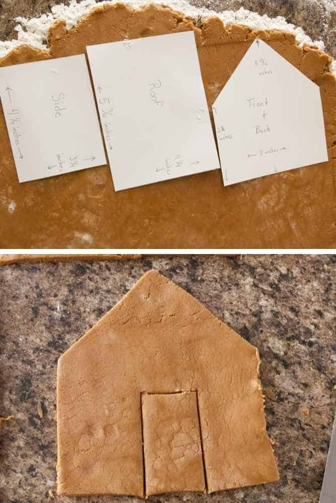 How to laid out the templates on the dough.