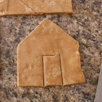 Gingerbread dough cut outs.