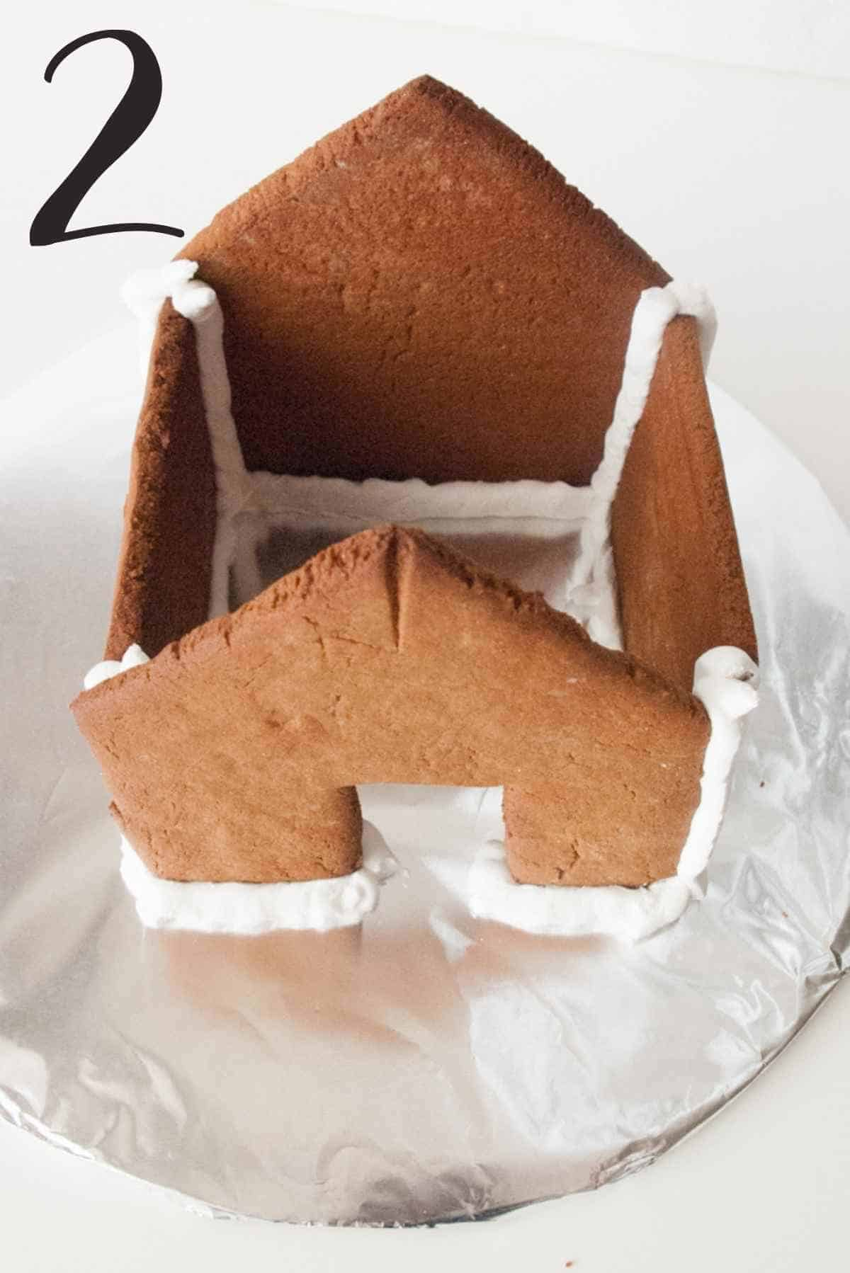 all four walls held together by royal icing.