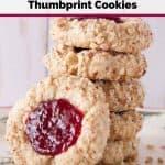 Pinnable image 3 for thumbprint cookies.