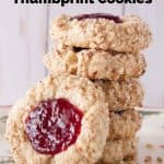 Pinnable image 1 for thumbprint cookies.