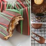 Pinnable image 4 for Chocolate dipped peanut butter ritz.