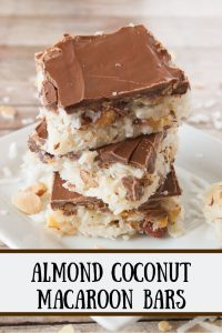 Pinnable image 1 for Almond Coconut Macaroon Bars
