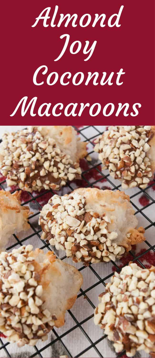 Almond Joy Coconut Macaroons- Mmmmm.....Almond Joy Coconut Macaroons!   Not only will you love how great they taste, you will not believe how easy these are to make!