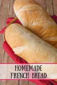 Homemade French Bread pinnable image.