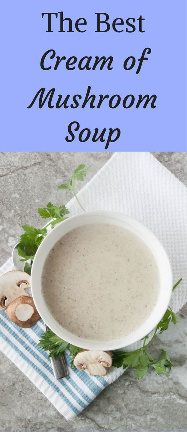 The Best Cream of Mushroom Soup- The best cream of mushroom soup should not be hard to make and definitely doesn't come from a can.  Try my recipe!  It is quick, simple and absolutely delicious!