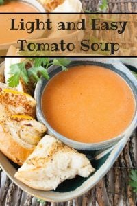 Pinnable image 1 for tomato soup.