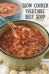 Pinnable image 3 for veg beef soup.