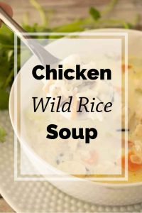 Pinnable image 5 for chicken wild rice soup.