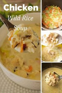 Pinnable image 4 for chicken wild rice soup.