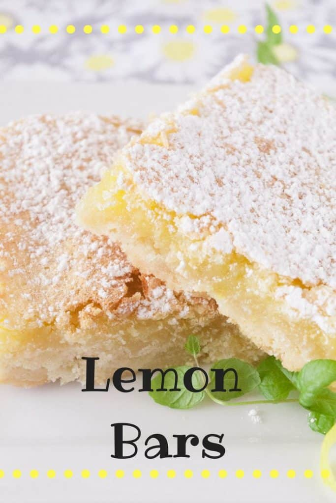Lemon bars pinnable image.
