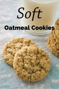 Pinnable image 1 for oatmeal cookies