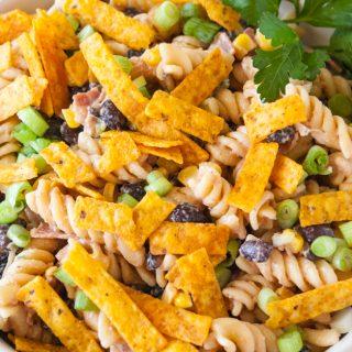 Barbecue Ranch Pasta Salad facebook image.
