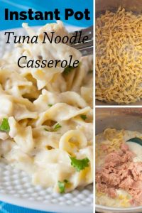 Pinnable image 4 for instant pot tuna noodle casserole.