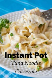 Pinnable image 5 for instant pot tuna noodle casserole.