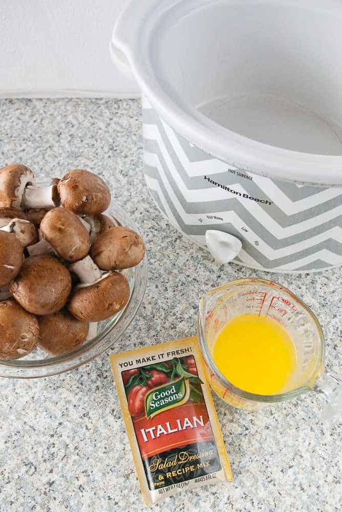 Ingredients for italian mushrooms.