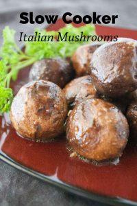 Pinnable image 1 for italian mushrooms.
