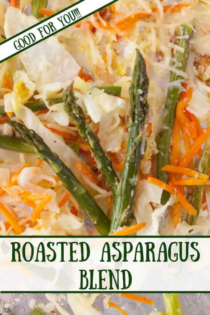 Roasted Asparagus Blend pinnable image.
