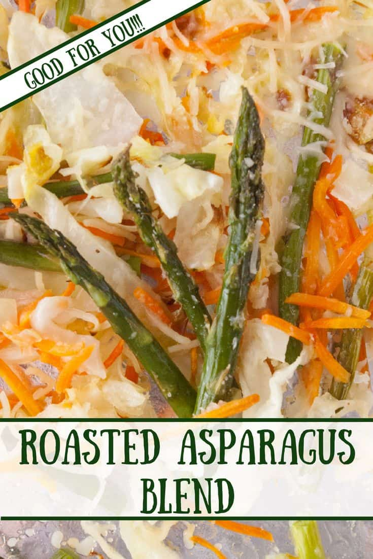Roasted Asparagus Blend- Roasted asparagus blend is an addictively tasty, quick and easy side to round out any meal! Trust me!  You will be surprised how delicious this is!!!