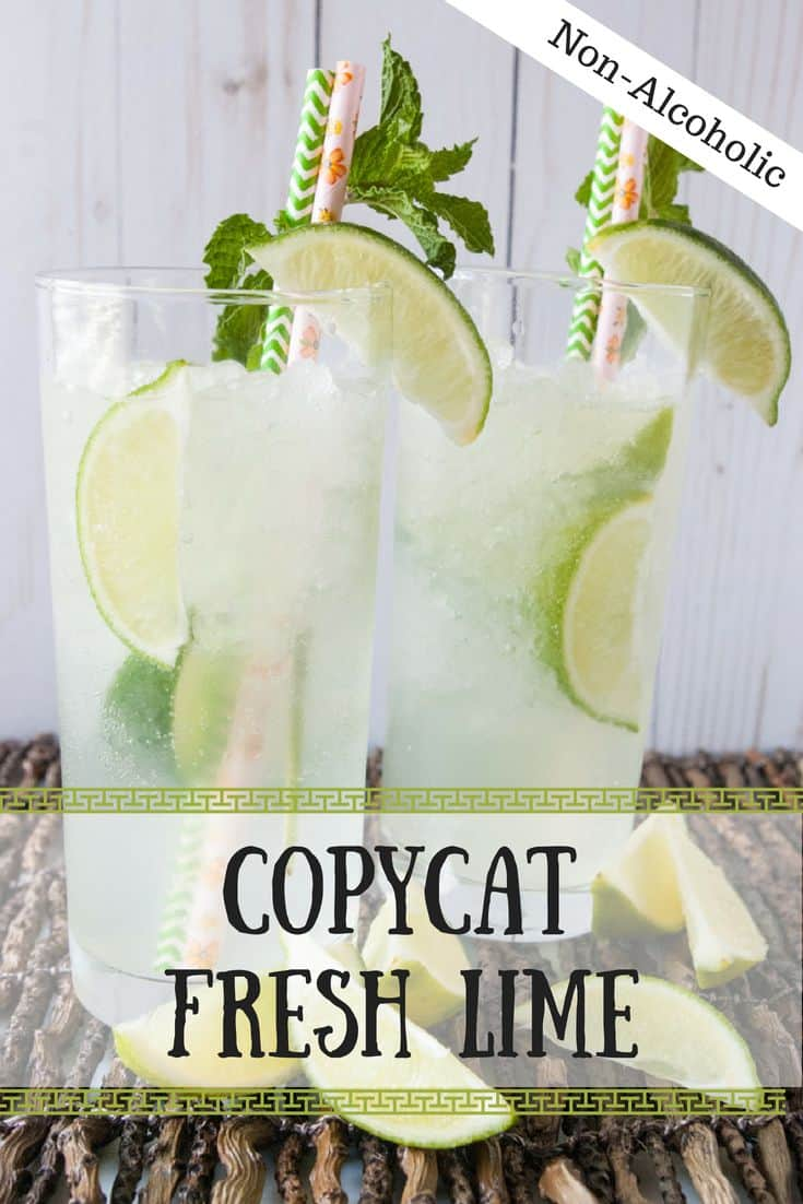 Copycat Fresh Lime Soda- Who says that simplicity can't be delicious?  My copycat fresh lime soda is simple, made with few ingredients and refreshing!