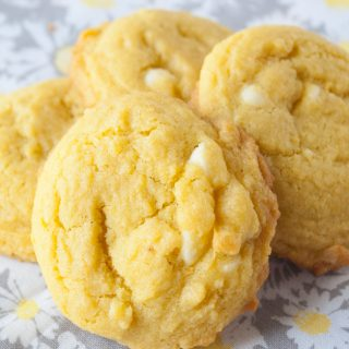 White Chocolate Chip Lemon Cookies facebook image.