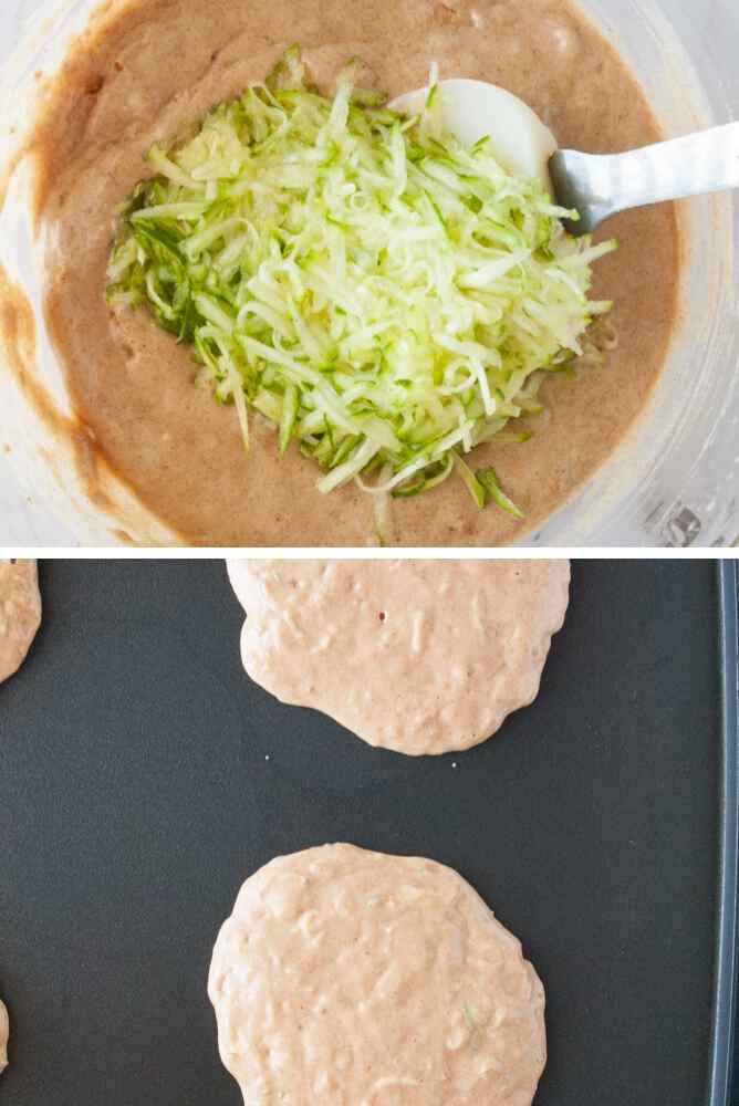 Steps to make these zucchini pancakes