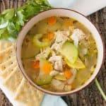 Pinnable image 6 for garden veg soup.
