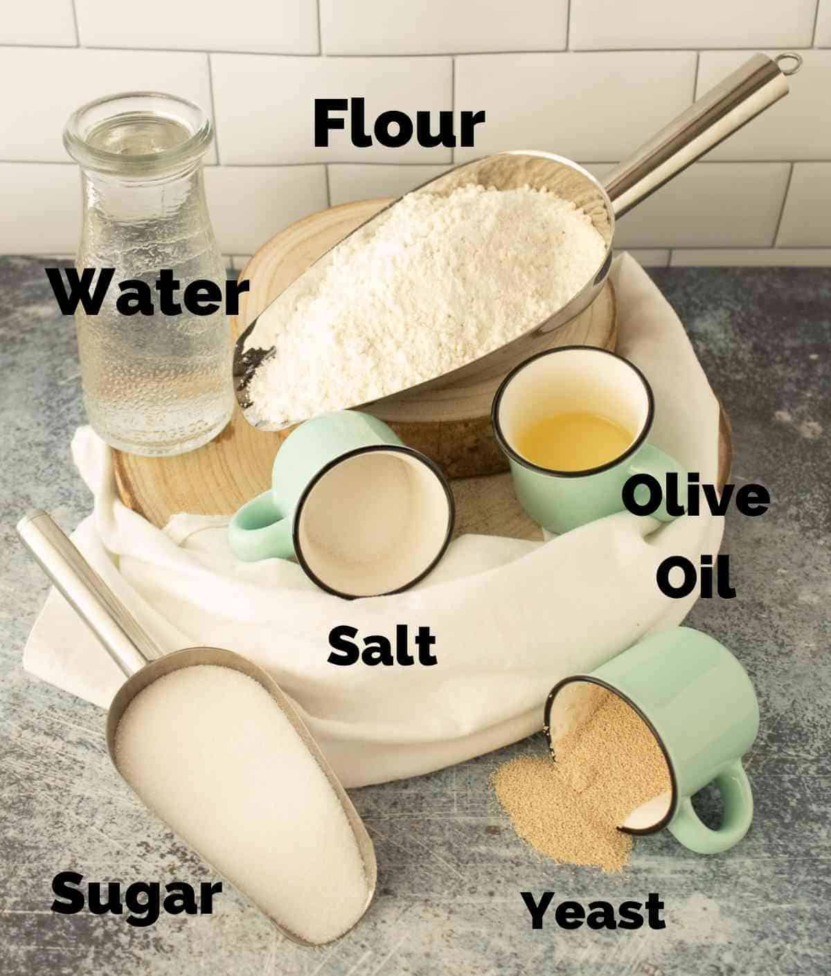 Ingredients for French Bread Bowls