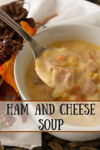 Ham and Cheese Soup pinnable image.