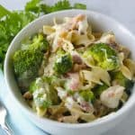 Facebook image for instant pot broccoli chicken pasta