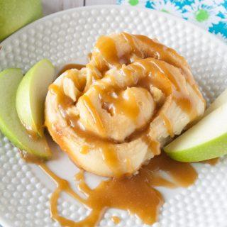 Caramel Apple Sweet Rolls facebook image.