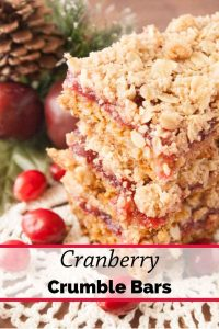 Pinnable image 1 for cranberry crumble bars.