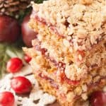 Pinnable image 2 for cranberry crumble bars.