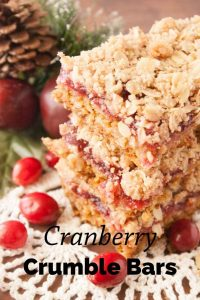 Pinnable image 3 for cranberry crumble bars.