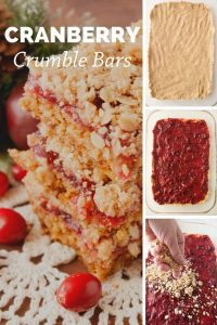 Pinnable image 4 for cranberry crumble bars.