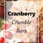 Pinnable image 5 for cranberry crumble bars.