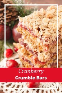 Pinnable image 6 for cranberry crumble bars.