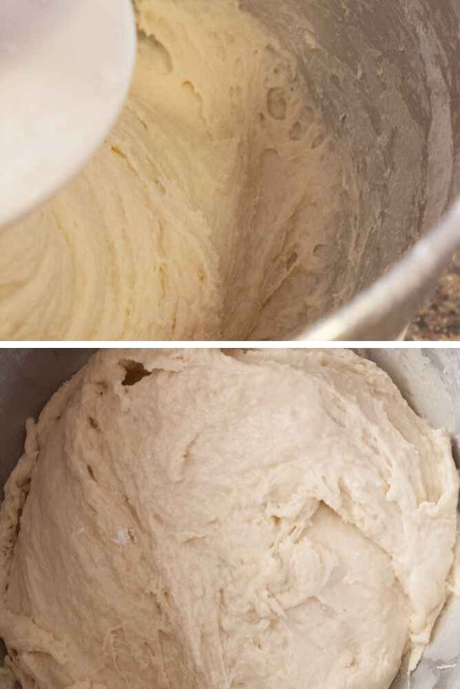 Pictures showing how sticky this dough looks.
