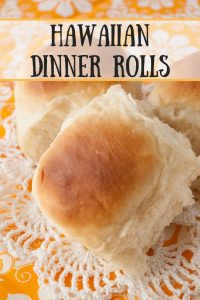 Hawaiian Dinner Rolls pinnable image.