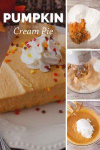Pinnable image 4 for pumpkin cream pie.
