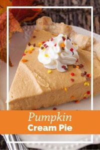 Pinnable image 6 for pumpkin cream pie.