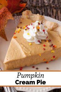 Pinnable image 3 for pumpkin cream pie.