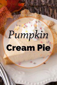 Pinnable image 5 for pumpkin cream pie.