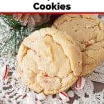 Pinnable image 3 for candy cane cookies.
