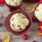 Cranberry Orange muffins facebook image.