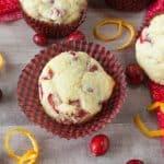 Cranberry Orange muffins facebook image.