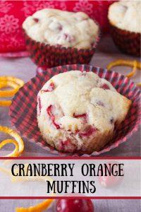Cranberry Orange Muffins pinnable image.