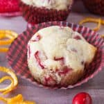 Cranberry Orange Muffins Hero pic