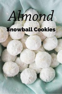 Pinnable image 1 for snowball cookies.
